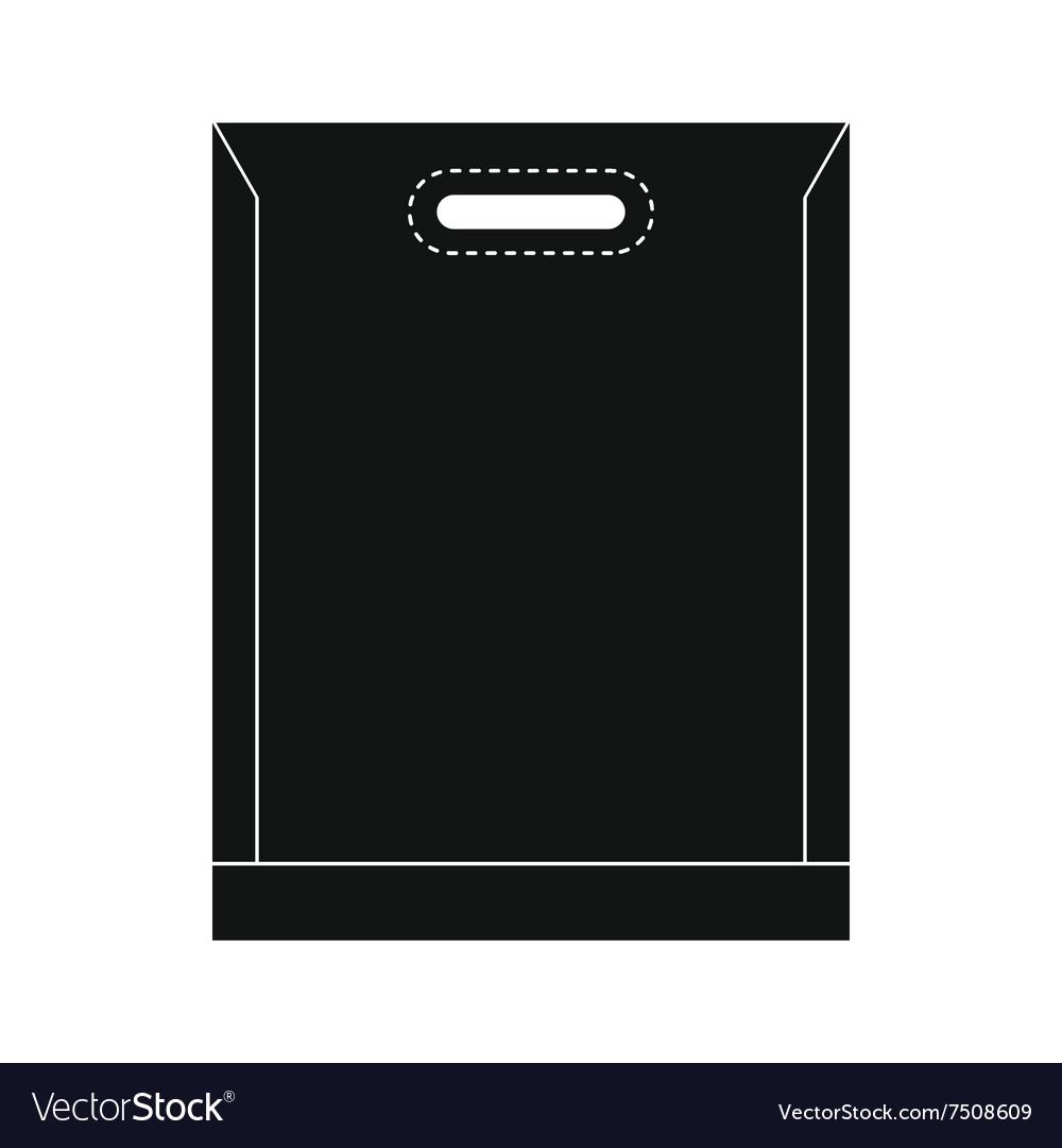 Blank plastic bag icon