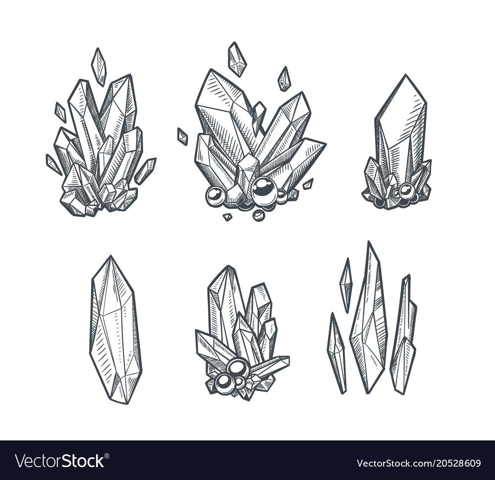 Crystals draing