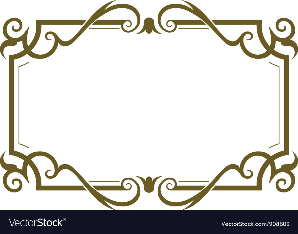 Frame Design In Frame Design Vector Image Royalty Free Vector Image Vectorstock