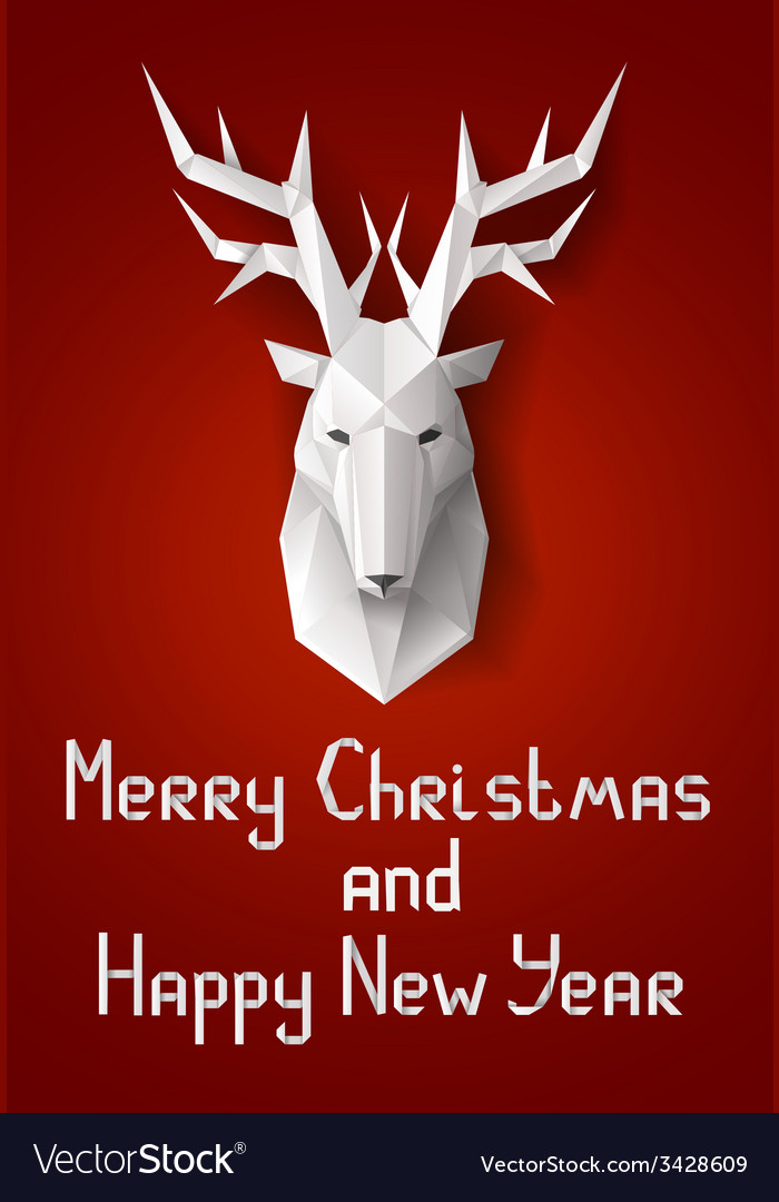 Greeting card with deer