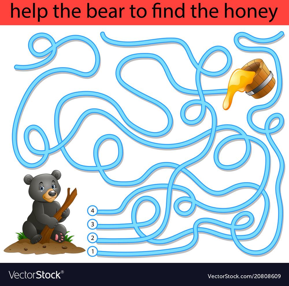Help the honey bear to find honey