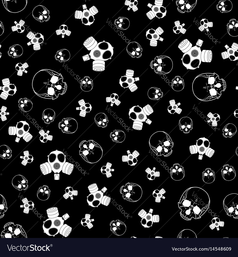 Seamless horror background vector image