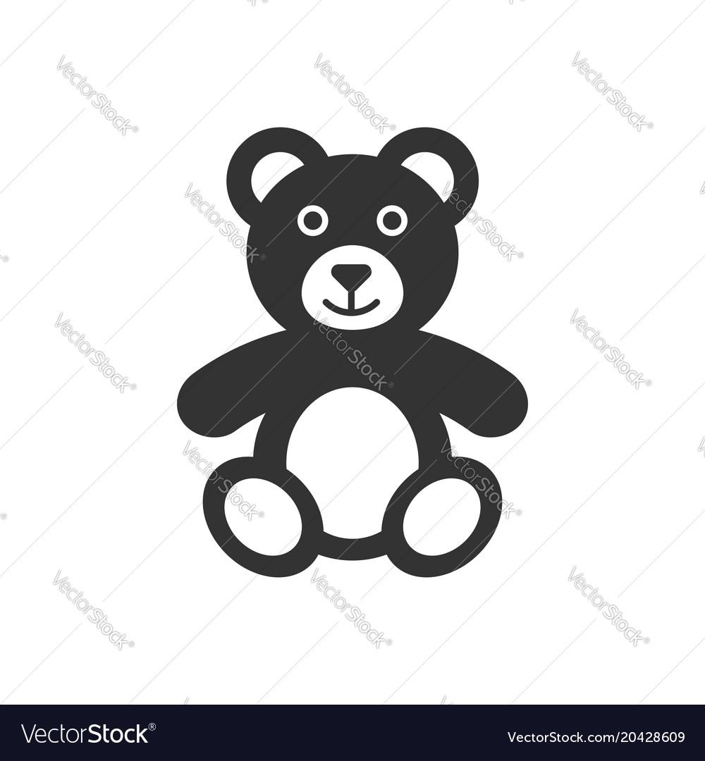 Teddy bear plush toy icon business concept bear