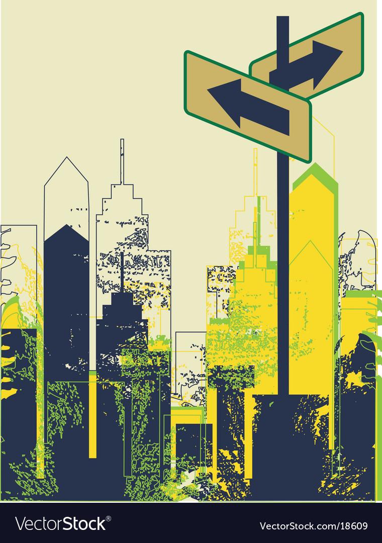 Urban street scene vector image