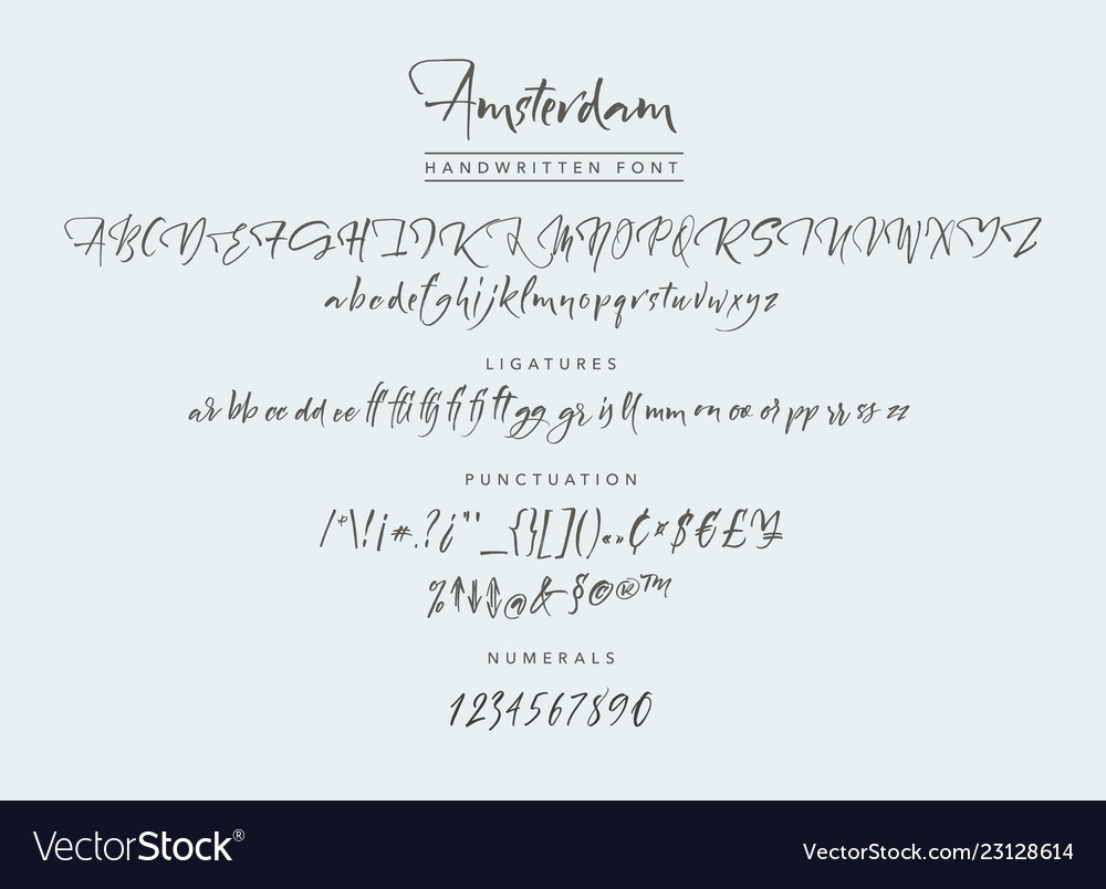 Amsterdam handwritten script font brush