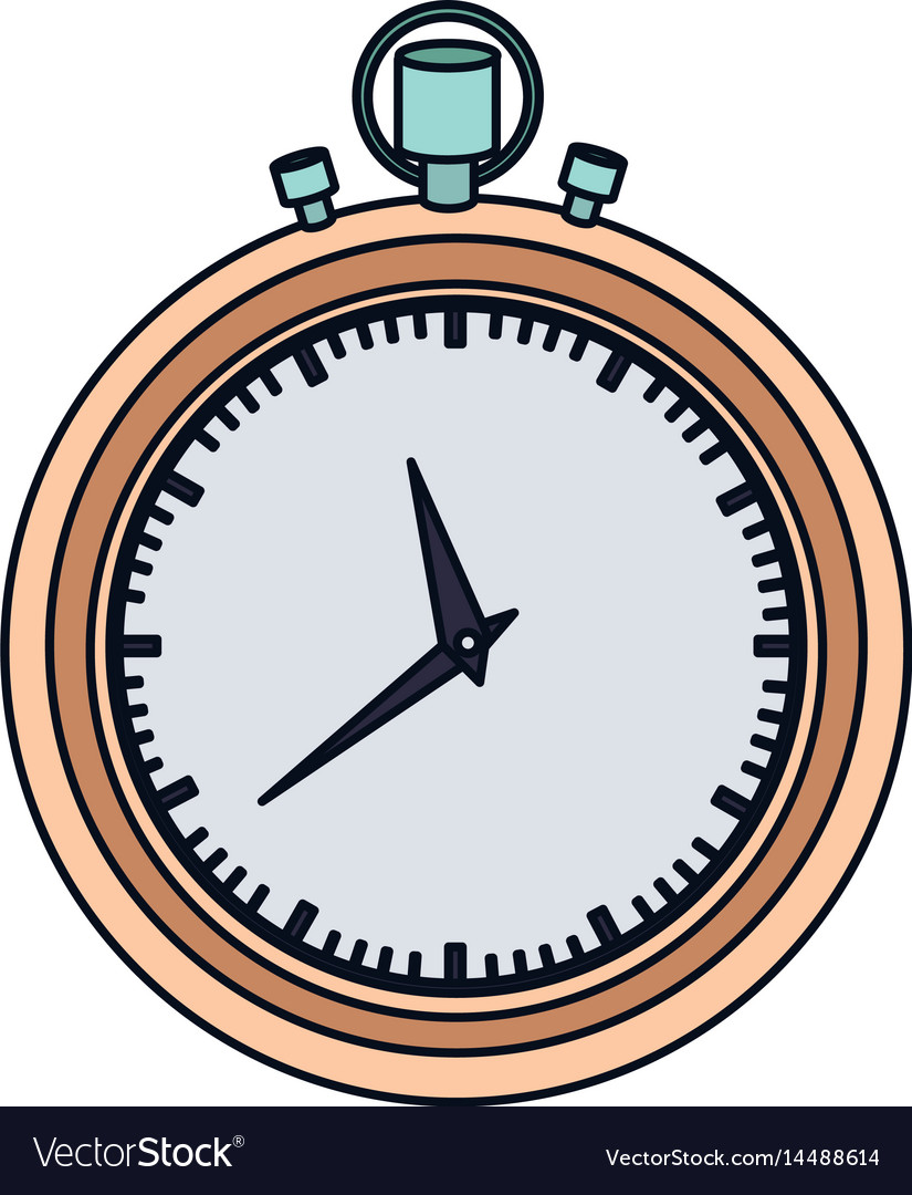 Color graphic of stopwatch with thick contour