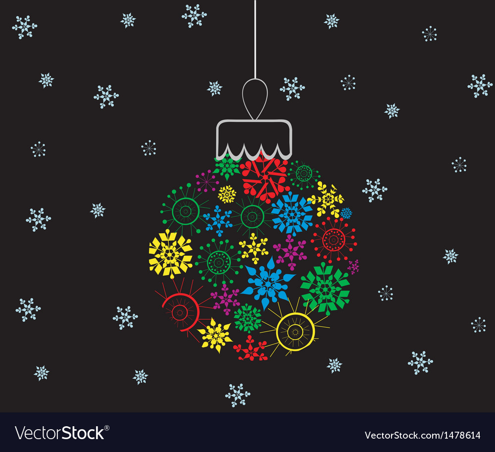 Colorful Christmas ball