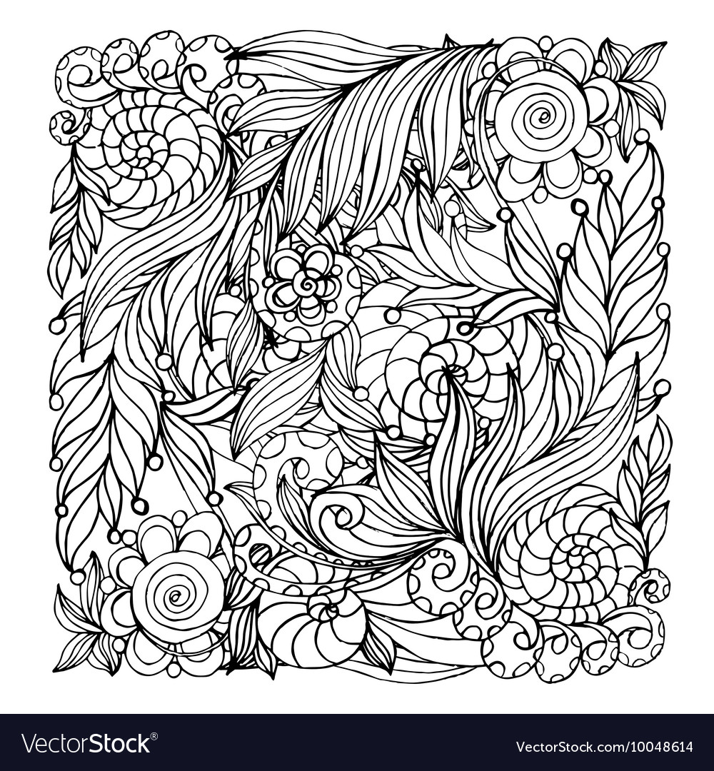 - Coloring Book Page Design With Pattern Mandala Vector Image