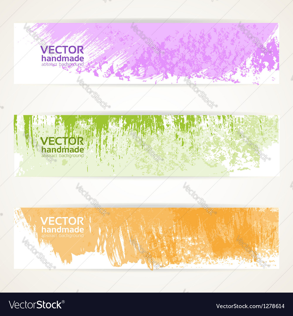 Decorative background color banners