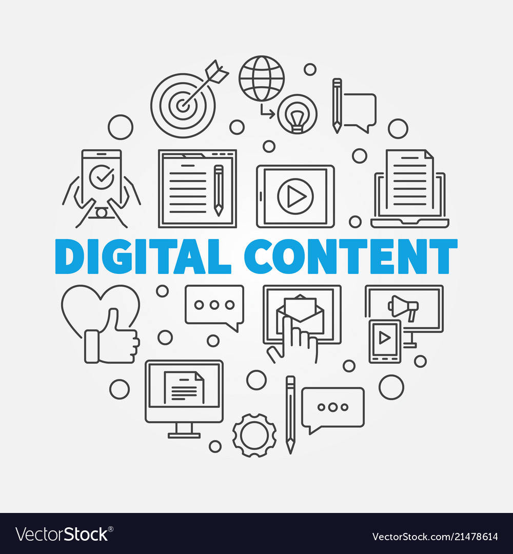 Digital content round outline