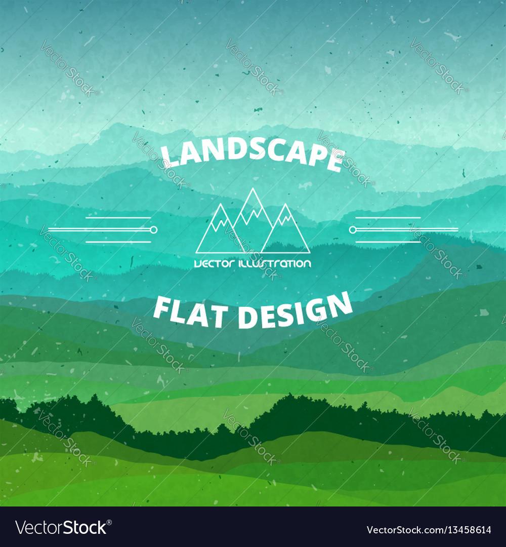 Flat landscape textured beautiful