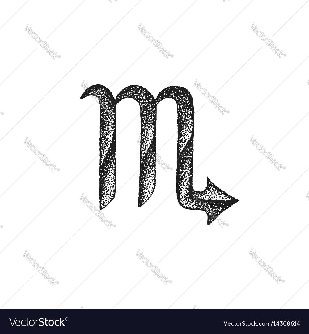 Hand drawn scorpio zodiac sign
