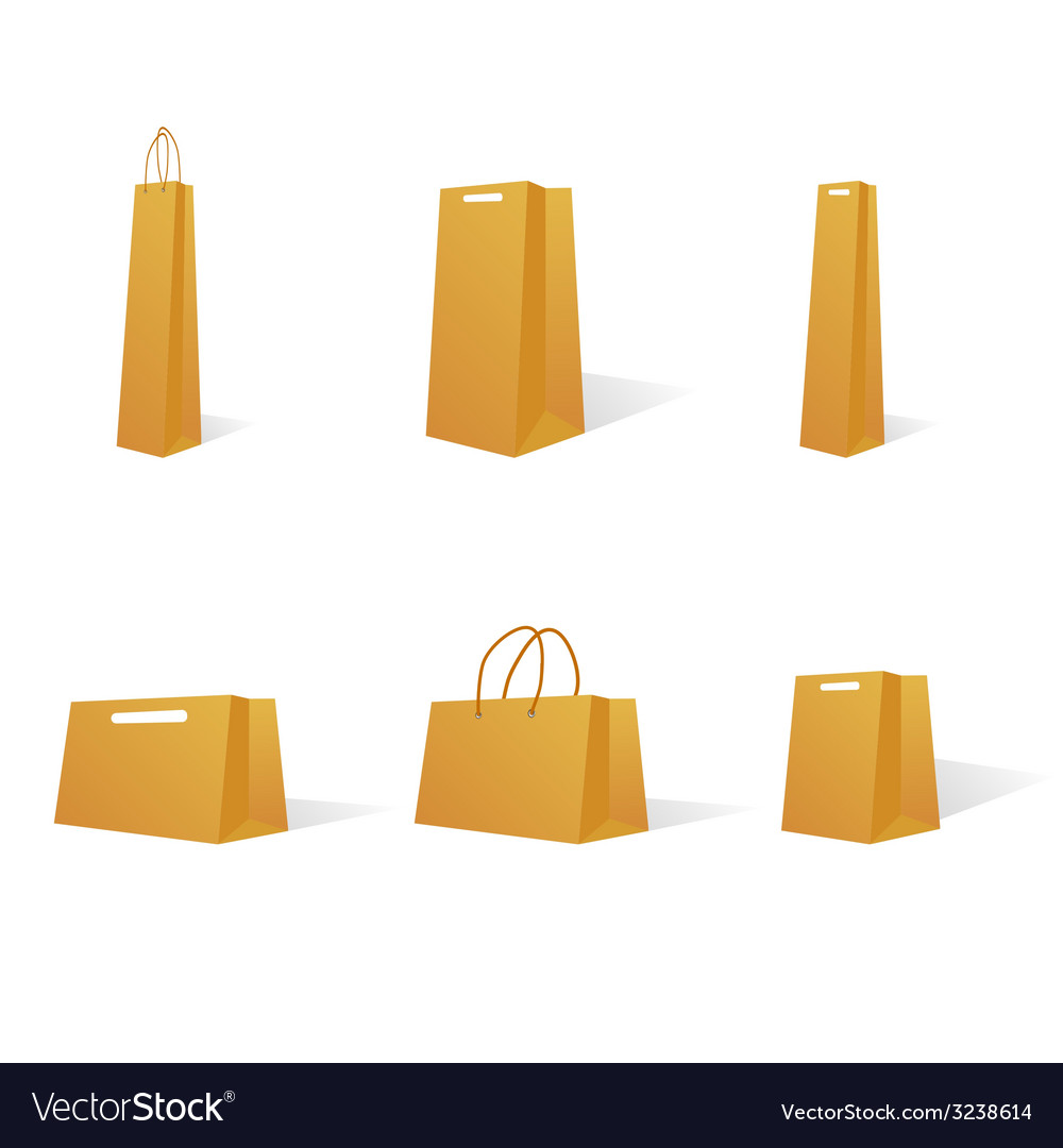Paper Bags In Various Sizes Vector Image