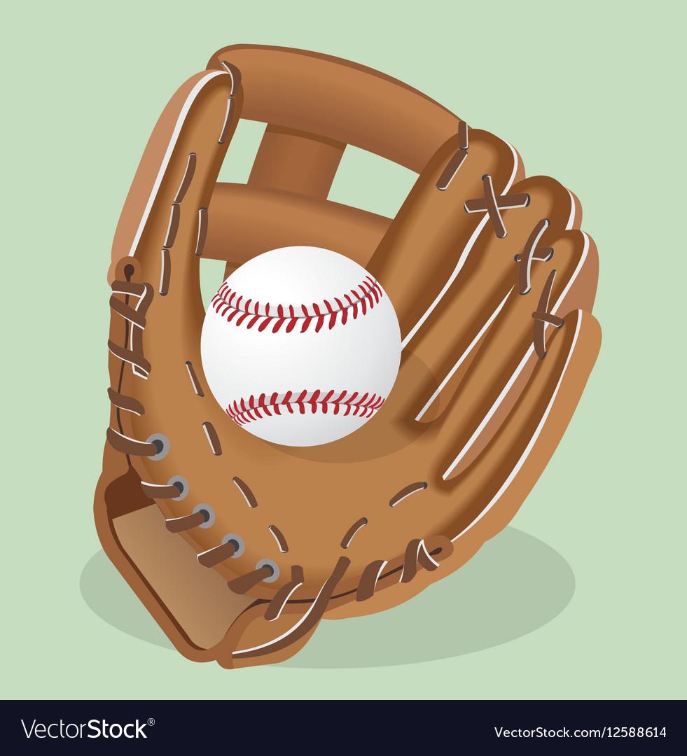 Realistic Baseball glove and