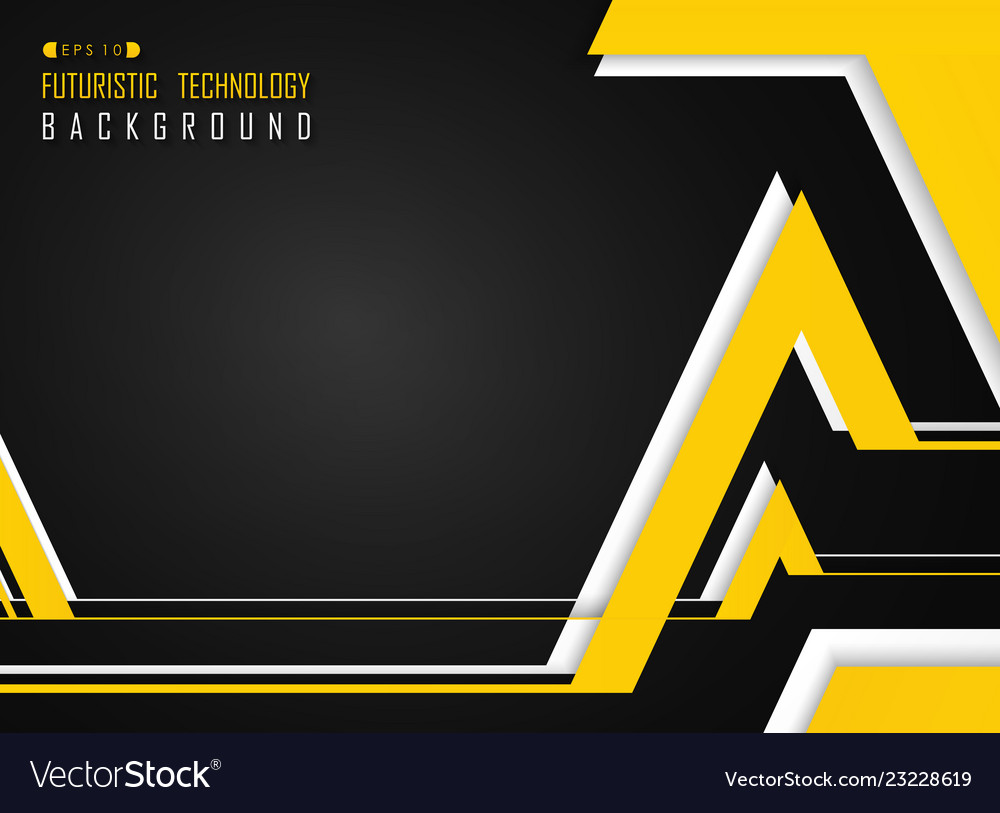Abstract of futuristic yellow white on gradient