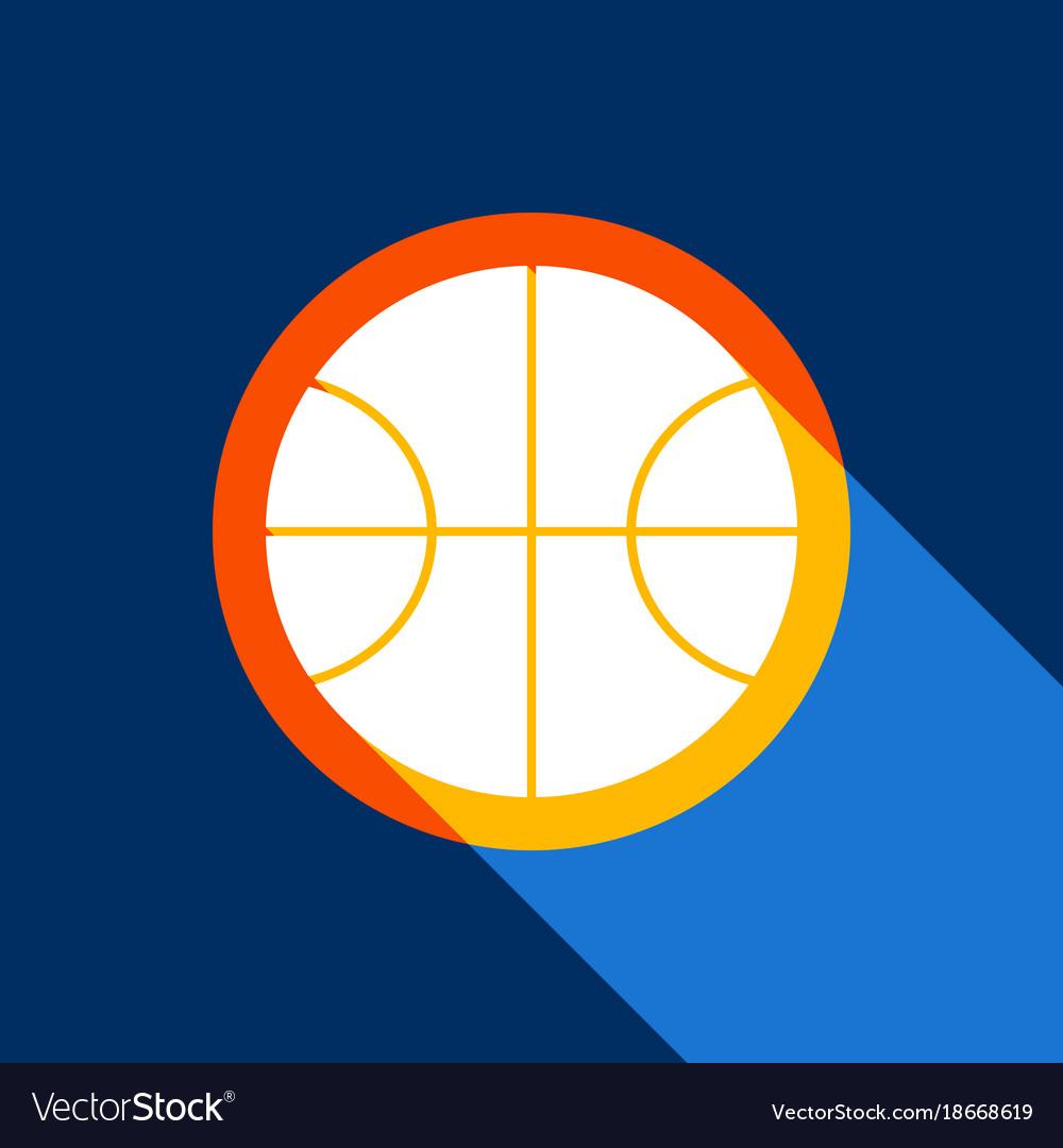 Basketball ball sign white