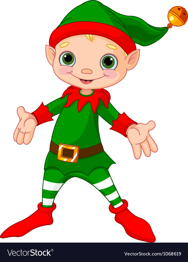 Happy Christmas Elf vector image