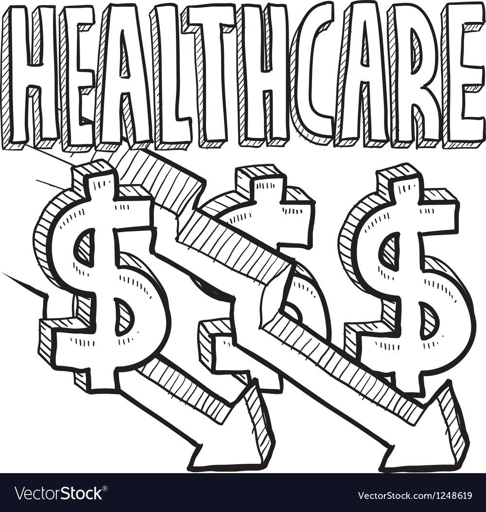 Healthcare costs decrease vector image