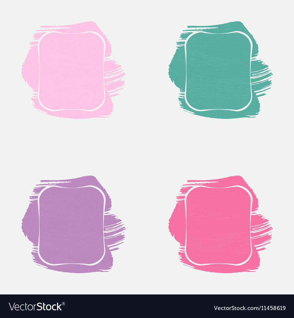 Set with Paint Frames Royalty Free Vector Image