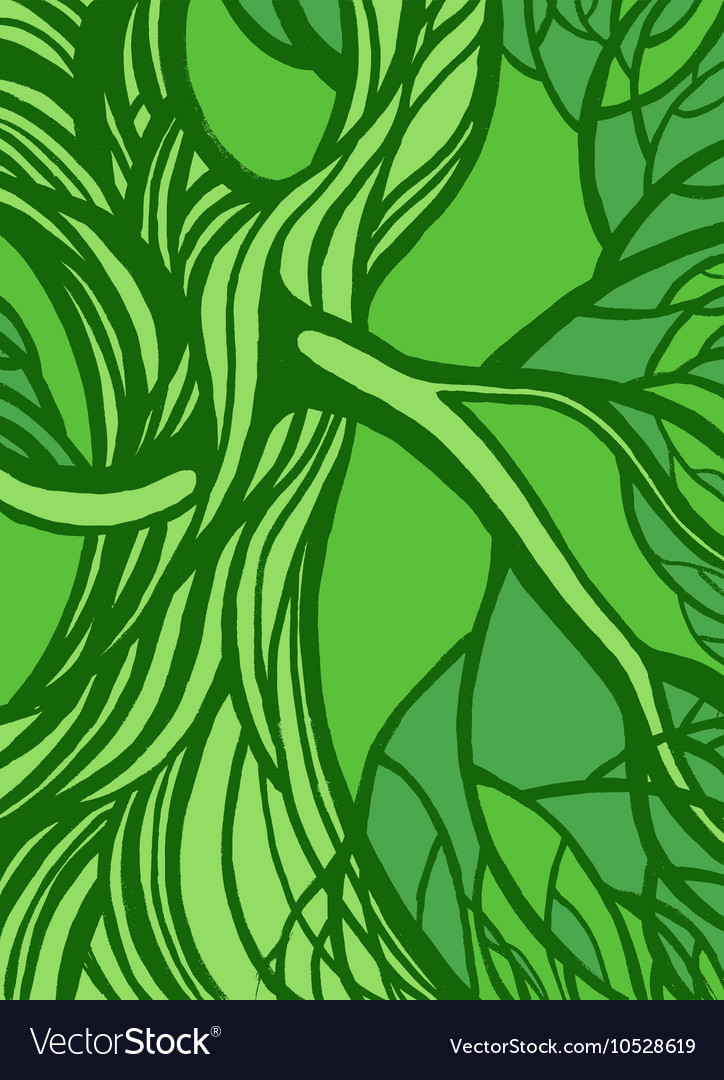 Stylized abstract green tree