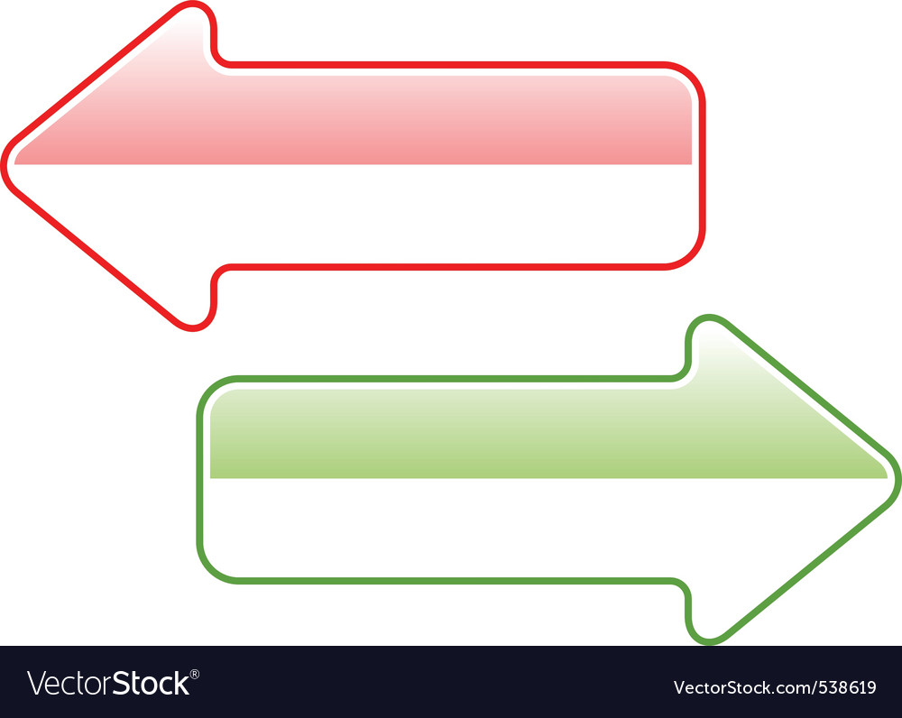 Two simple arrows isolated on the white