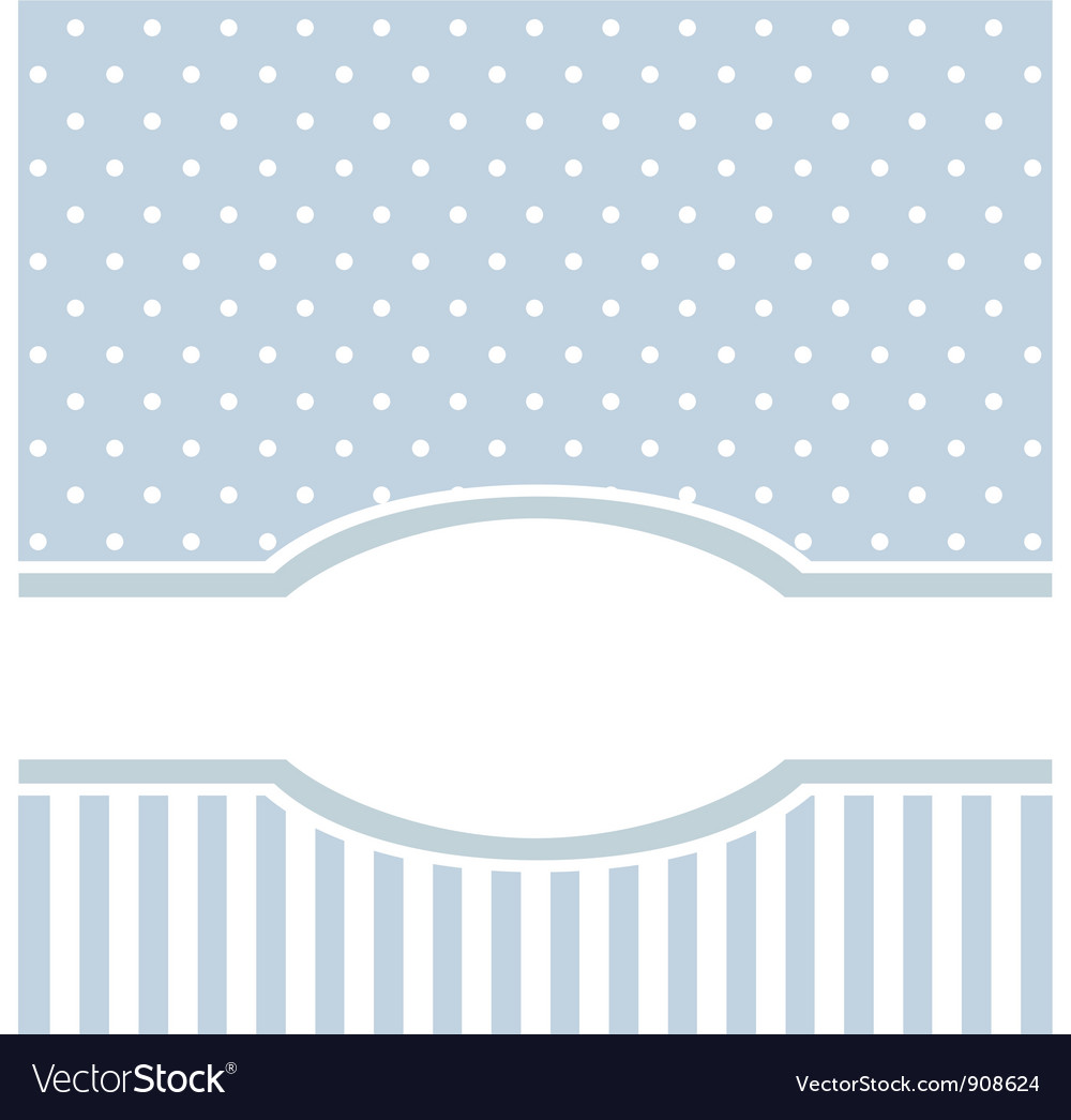 Birthday or baby shower invitation blue card vector image