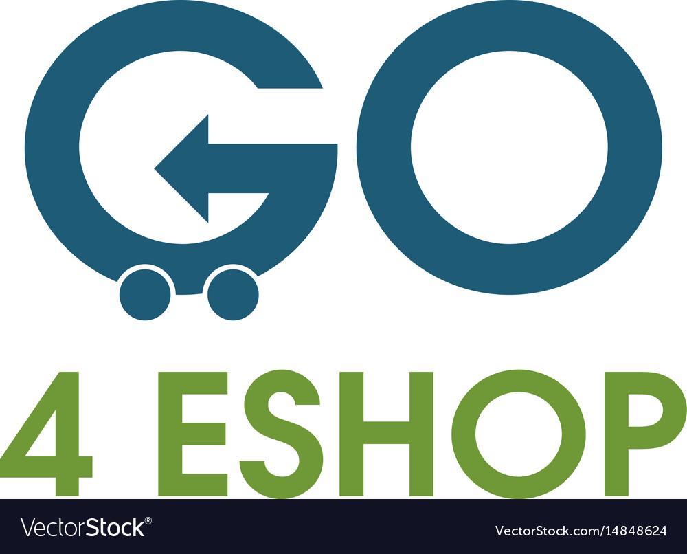 Go shopping logo design template