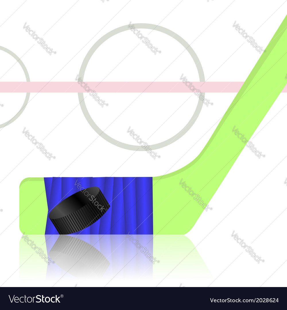 Hockey game vector image