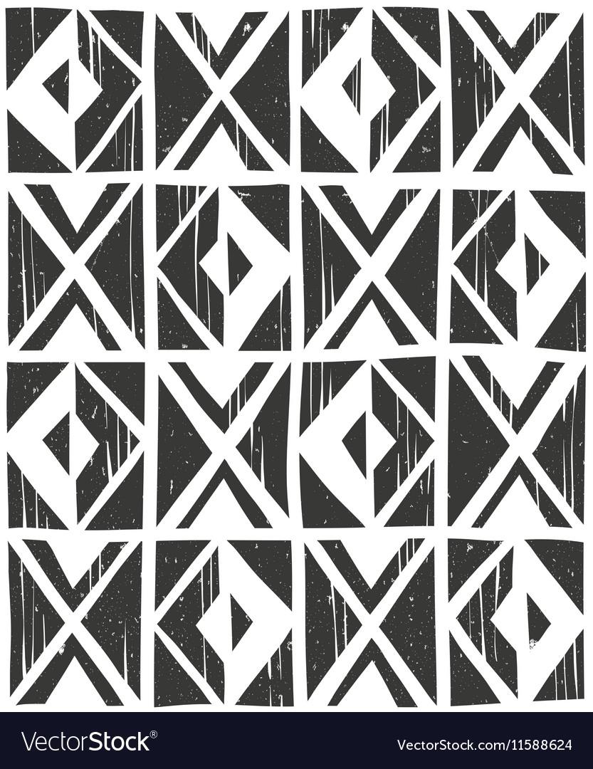 Seamless geometric pattern Hand drawn