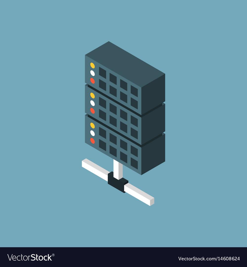 Server isometric icon