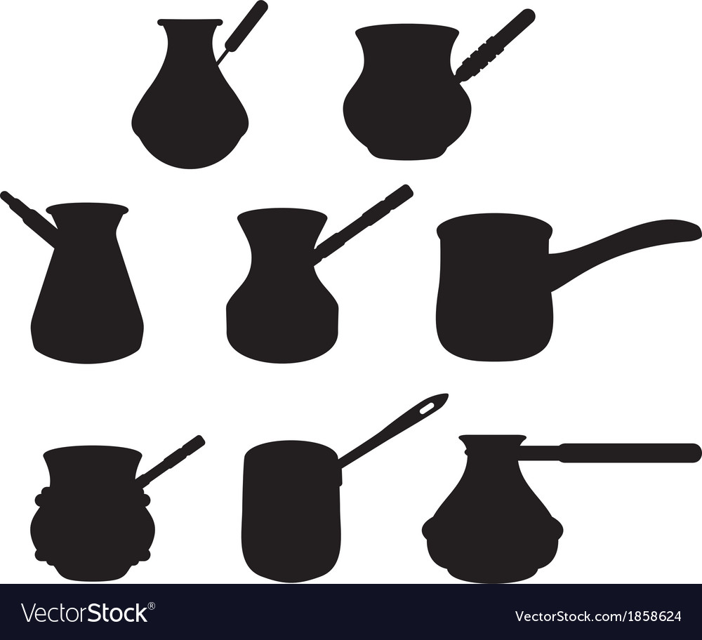 Set turk for brewing coffee