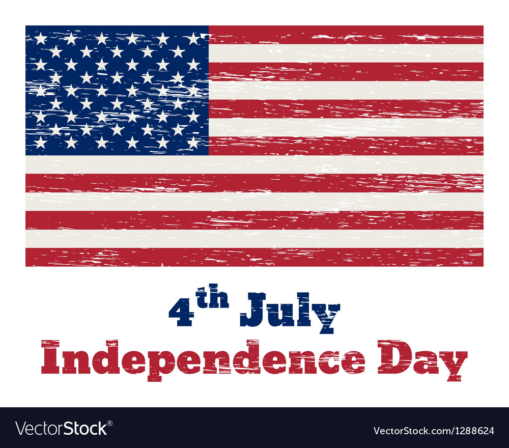 USA flag vintage 4 July