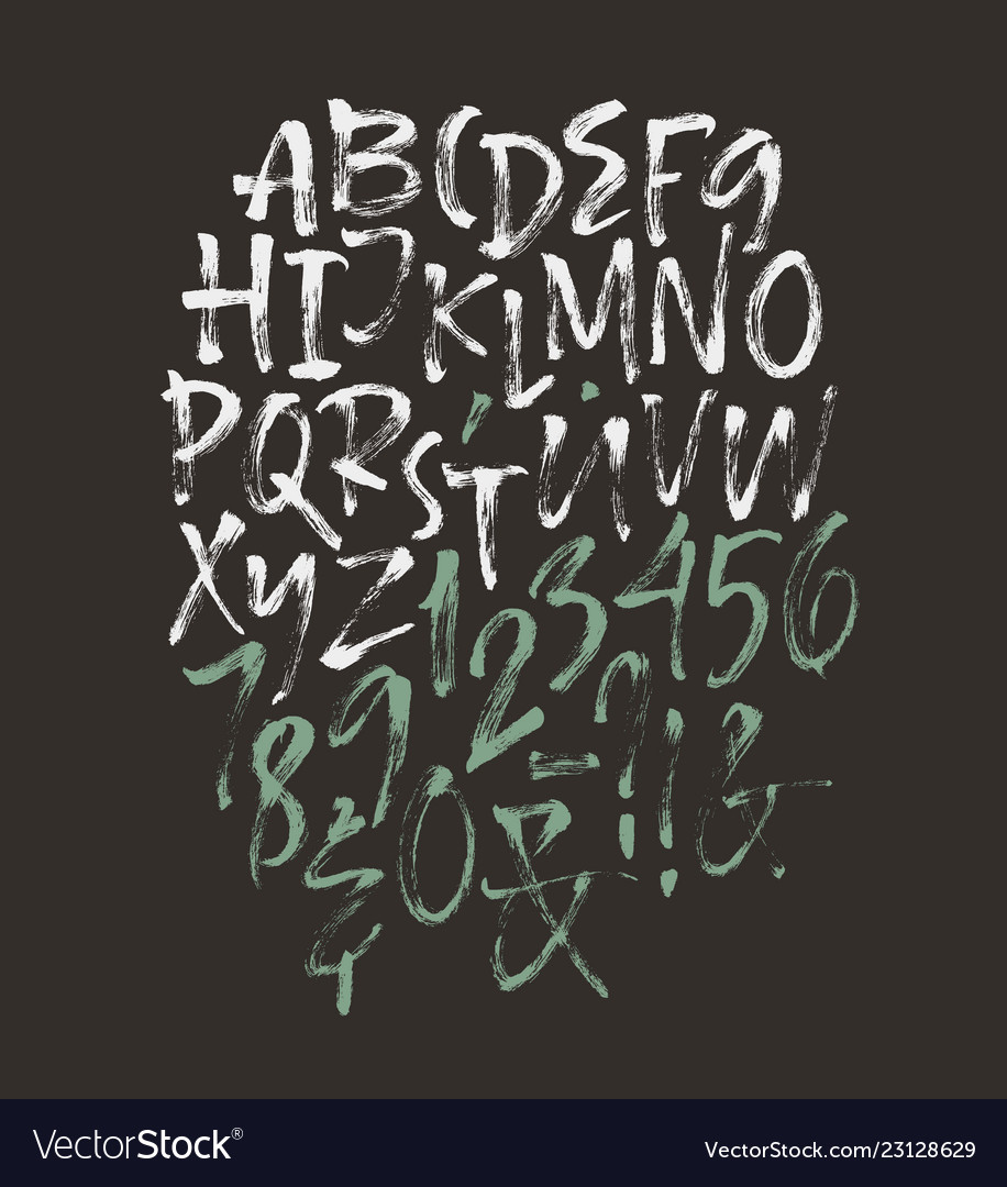 Alphabet letters uppercase numbers
