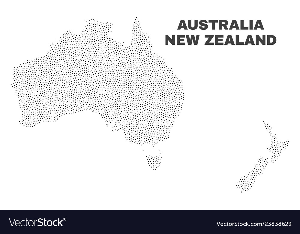Australia New Zealand Map.Australia And New Zealand Map Of Points