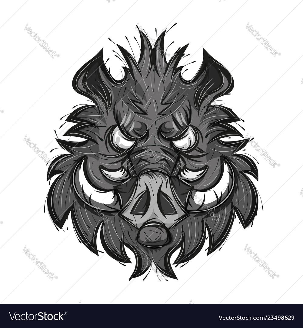 Boar head sketch