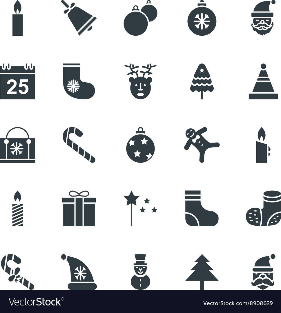 Christmas Cool Icons 1 vector image