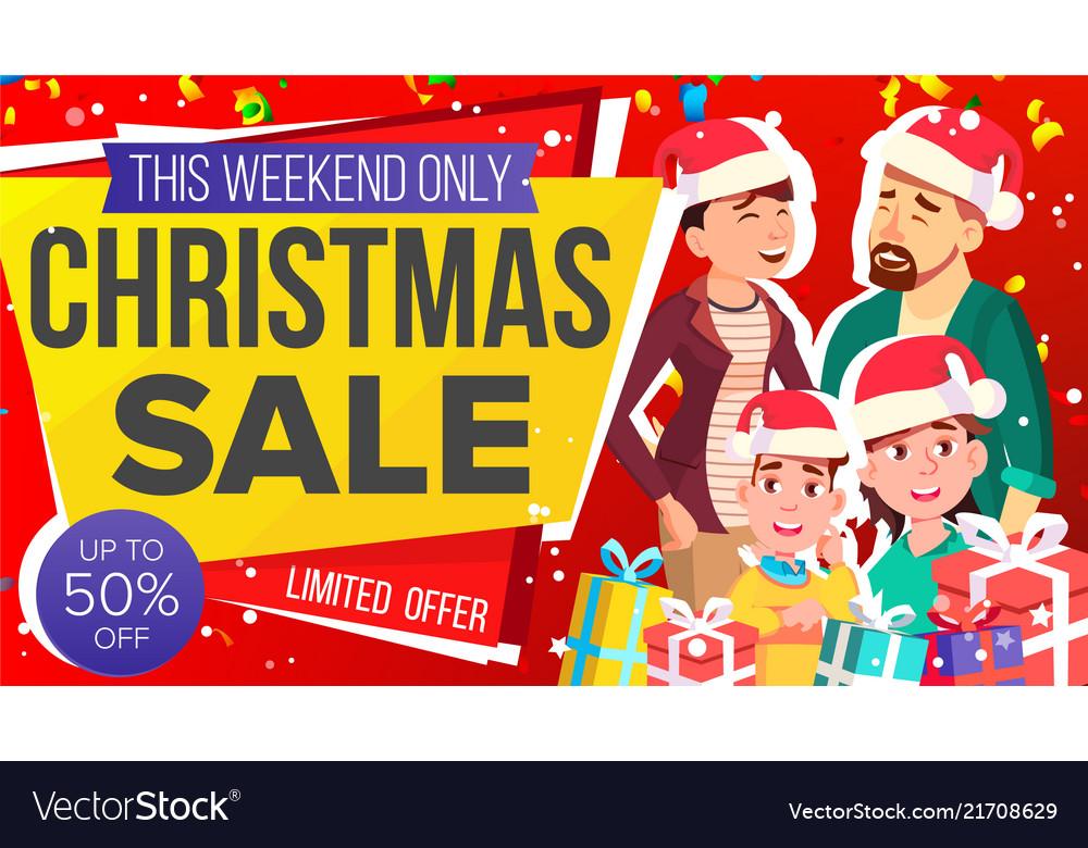 Christmas sale banner big christmas sale