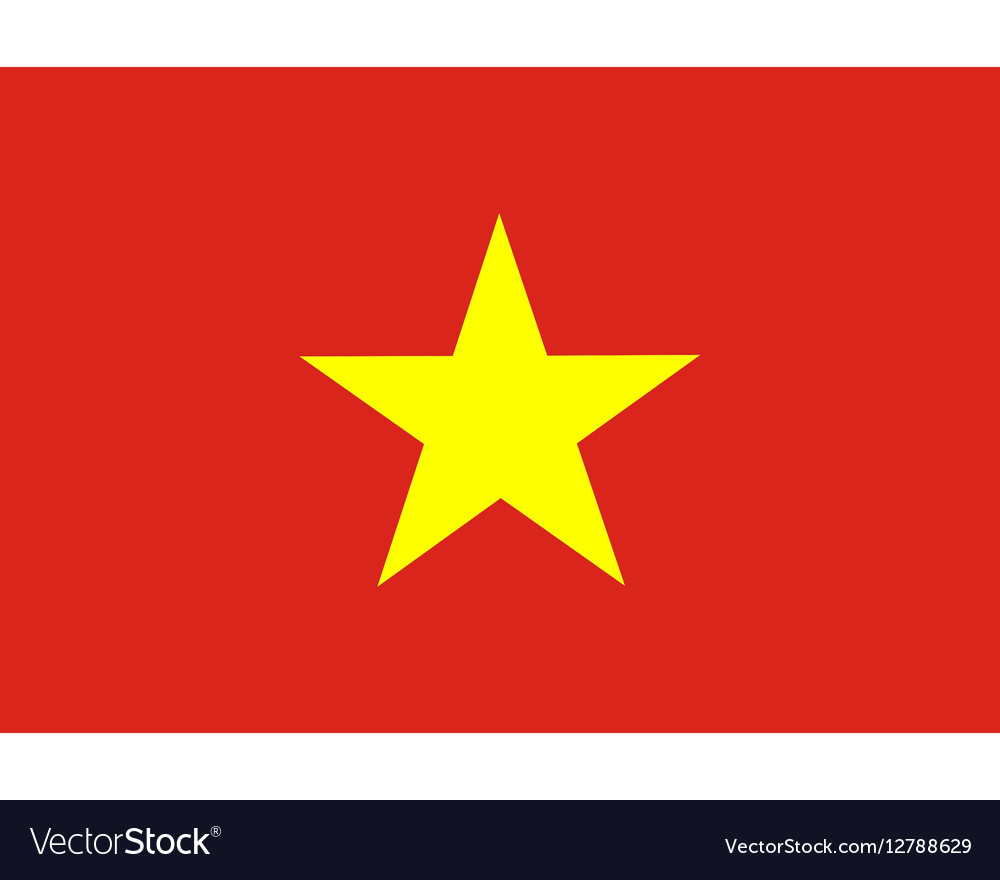 Colored flag of Vietnam