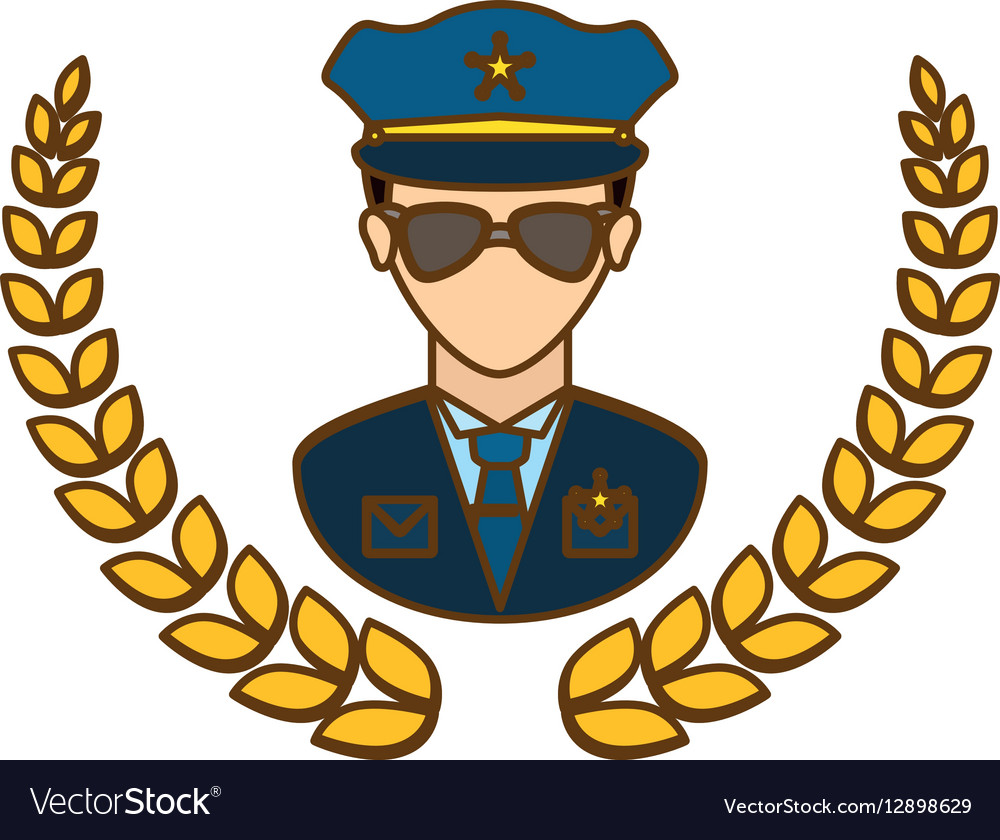 Gold police badge icon image