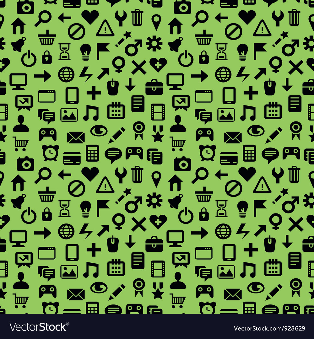 Seamless pattern with technology icons