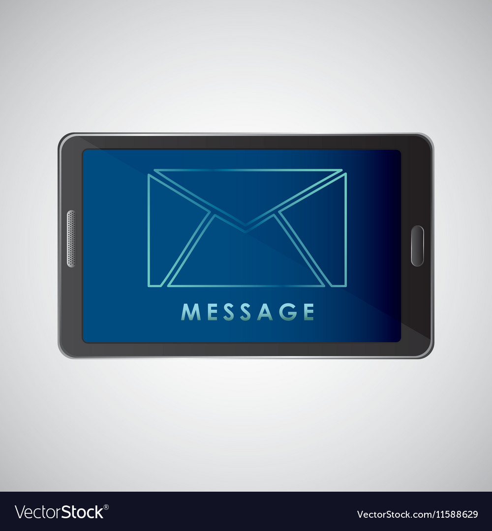 Smartphone concept email message chat icon