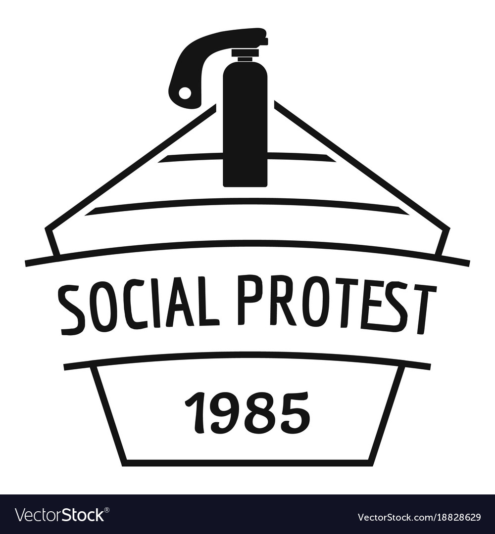 Social protest riot logo simple black style