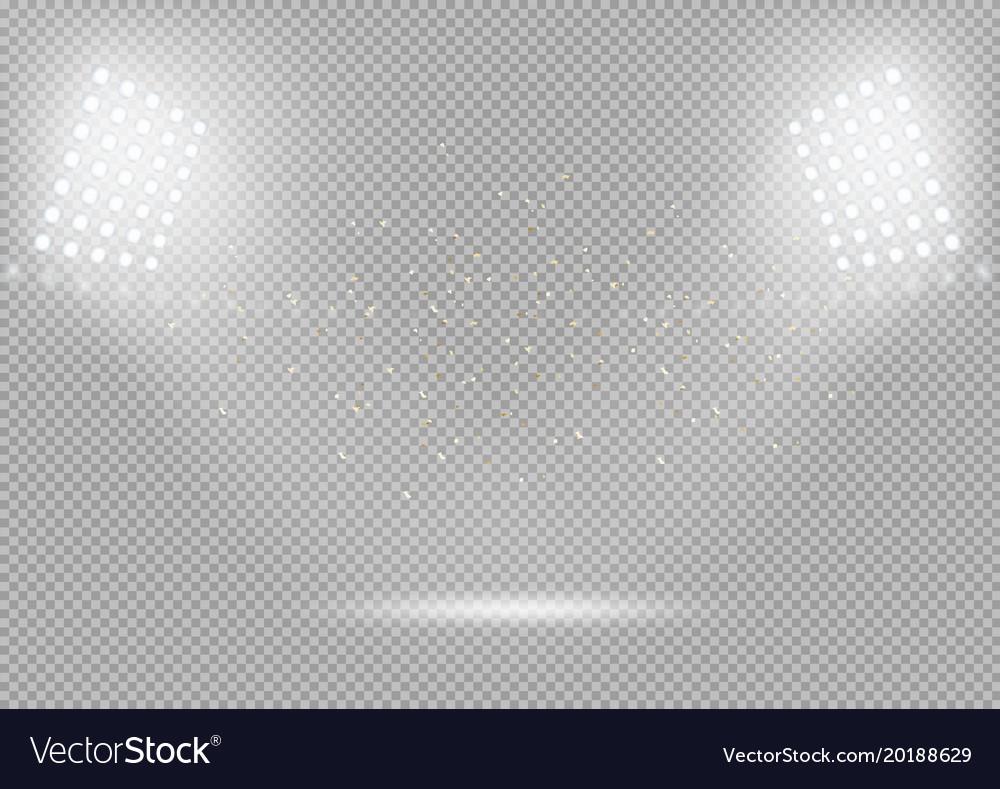 Spotlights podium scene bright light