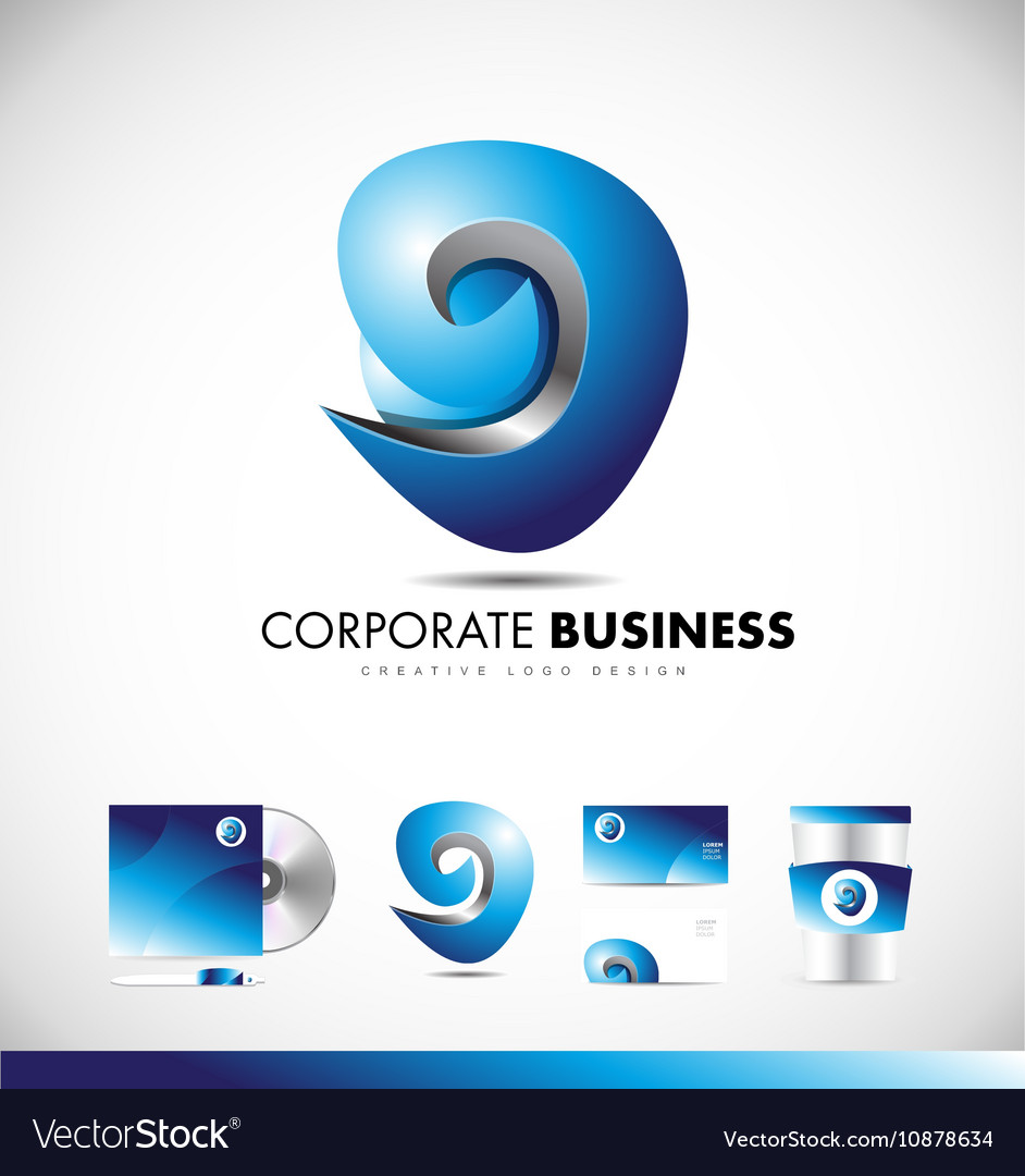 Abstract sphere sign business logo icon design vector image