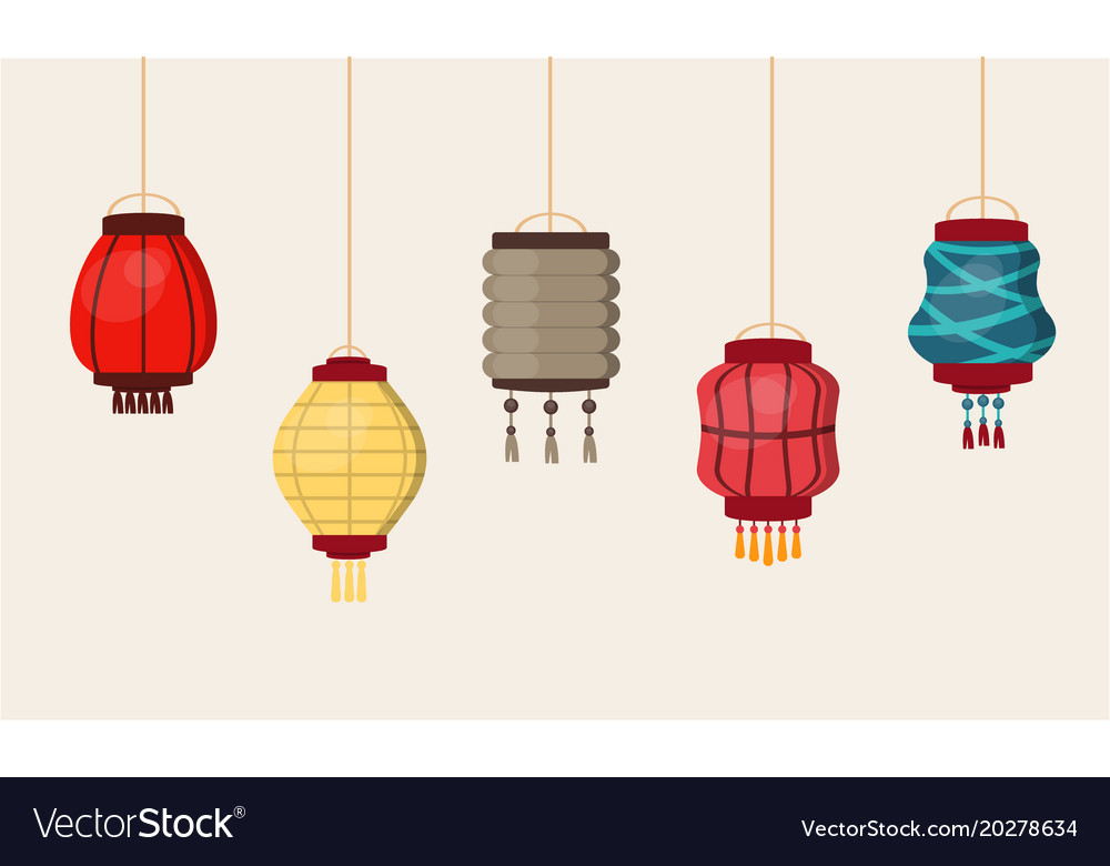 Chinese Lantern Traditional China Culture Vector Image