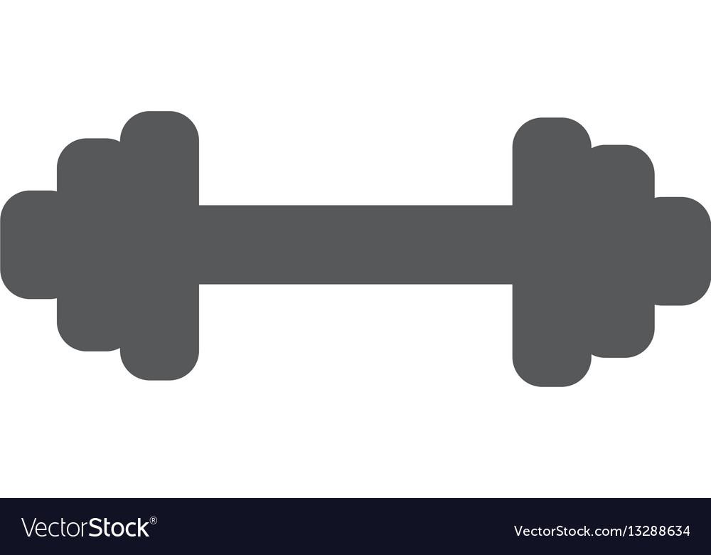 Dumbbells object flat icon isolated on white