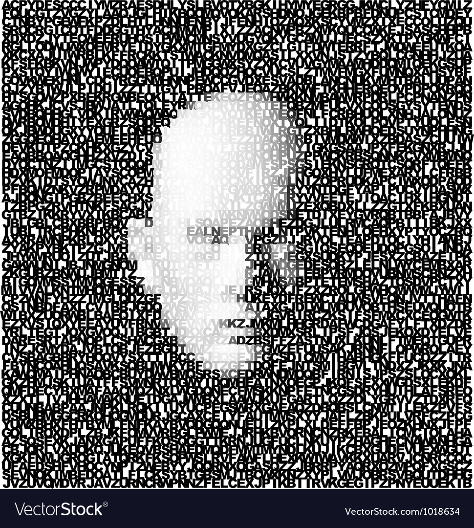 Face Made Of Letters