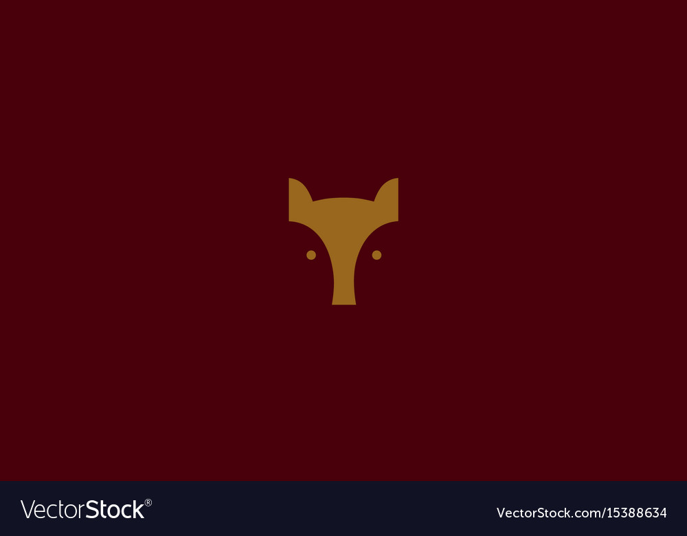 Geometric logo the head of a fox vector image