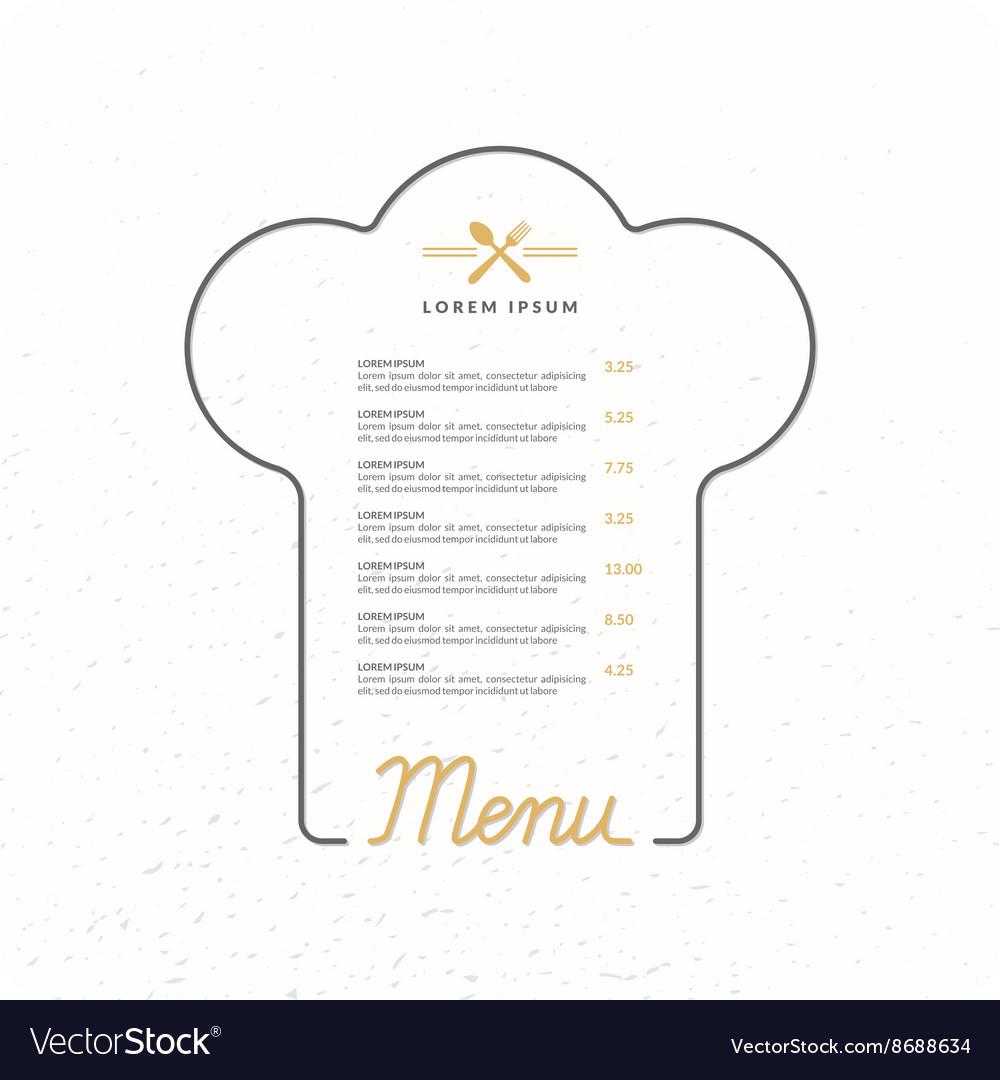 Llinear background for restaurant menu