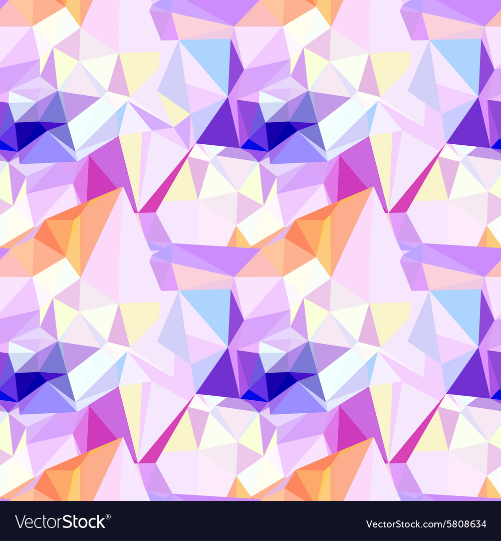 Low poly seamless pattern Abstract diamond